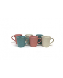 MIXED COLOR COMBINATION PLAIN MUG - SET OF 6