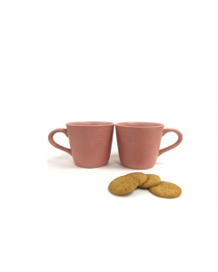PINK PLAIN MUG - SET OF 2